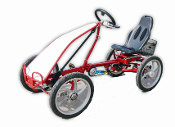 four wheel one person cycle, quadricycle, 4 wheel bike