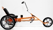 Slingshot adult recumbent trike, rental tricycle, lowrider, chopper