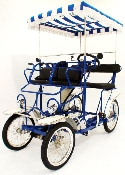 Four wheel cycle, two person Surrey bike, quadricycle, 4 wheel bike, 4 wheel bicycle, surrey cycle, family cycle