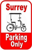 Surrey Parking Only Sign